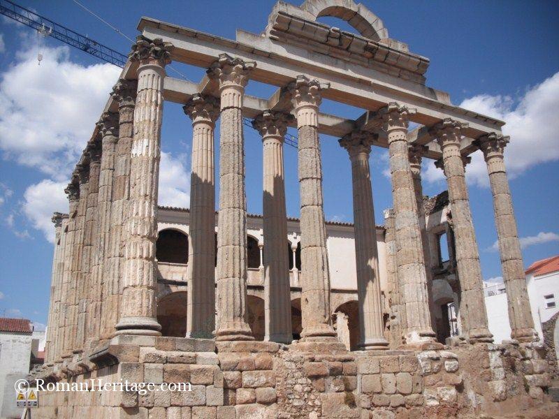 Temple of Diana so called templo de Diana - Merida - Badajoz - Extremadura - ...